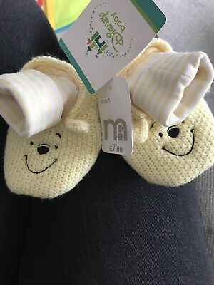 Winnie the Pooh Booties Size 1 Mothercare