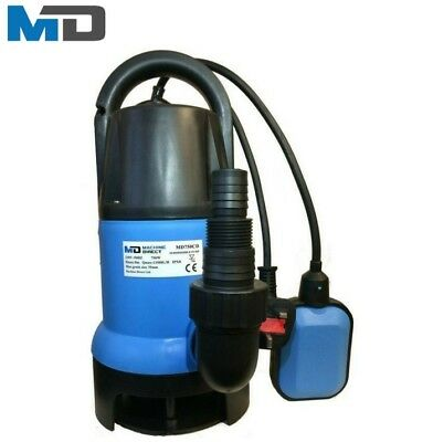 MD Electric Submersible Clean & Dirty Water Pump MD750CD pool hot tub flood pond
