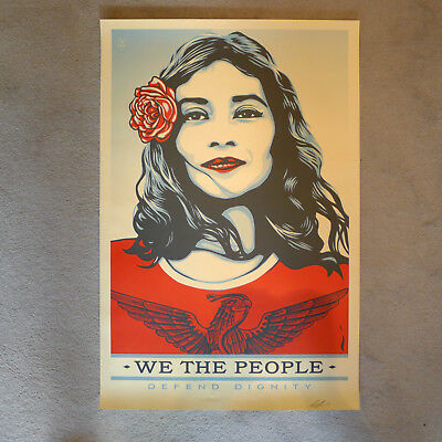 Shepard Fairey - We the People - PROTECT DIGNITY Original Siebdruck Handsigniert