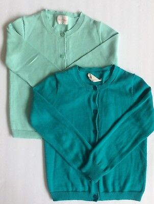 Girls Crewcuts Blue Green Casey Cardigan lot Size 4-5