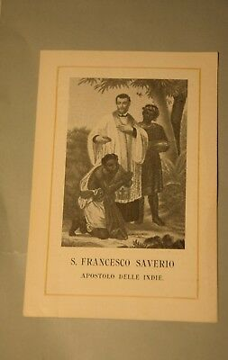 Santino Holy Card S. Francesco Saverio 1904  (ao76) ^
