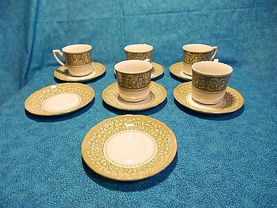 J&G Meakin English Royal Ironstone~SHERWOOD~Lot of 7 Saucer & 5 cups VGC~5 3/4in