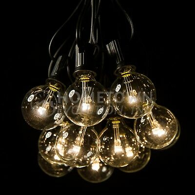 G40 LED Clear Outdoor Patio Globe String Lights (100', 50' and 25' Lengths)