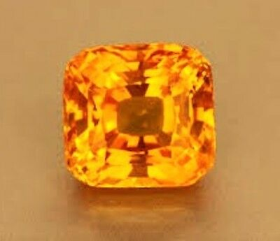 9x9 mm. SAPHIRE CUSHION PADPARADSCHA ORANGE DIAMANT-FUNKELND LOSE HÄRTE 9