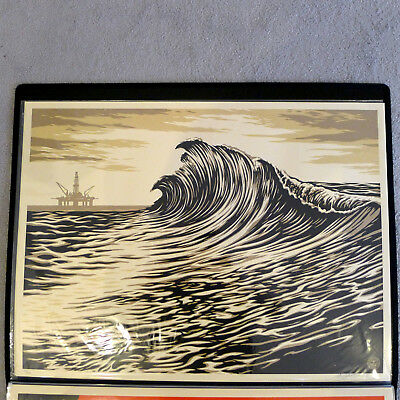 Shepard Fairey - WATER IS THE NEW BLACK WAVE - 2015 - Signiert und Nummeriert