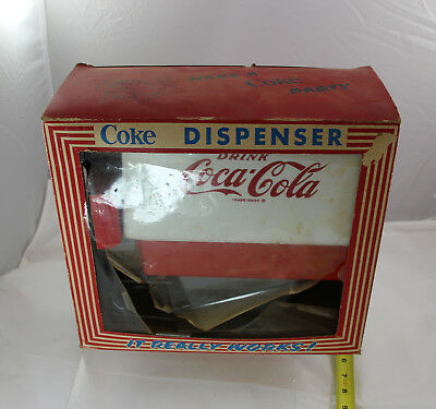 Vintage Coke Dispenser Toy - Boxed with original glasses