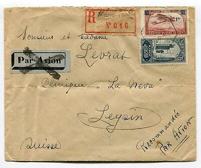 Morocco Maroc 1931 attractive franking on Registered cover to Switzerland