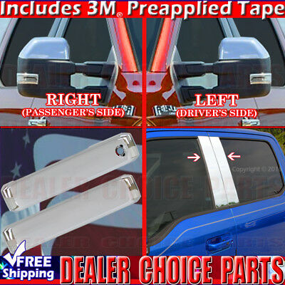 2009-2014 F150 Chrome Door Handle W//OKP, PSK 4DR Gas F Mirror Tailgate COVERS