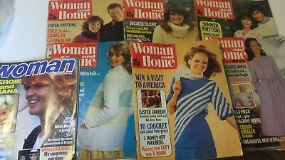 VINTAGE WOMAN AND HOME MAGAZINE 1970's x6 and Woman x1