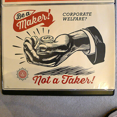 Shepard Fairey - Corporate Welfare - 2015 - Signiert und Nummeriert