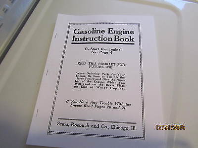 Sparta Economy sears 1hp to 10hp  Gas Engine  Instruction/Parts Catalog Manual