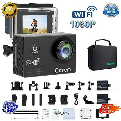 Action Camera Action Full HD 1080P Waterproof Sports Camera WIFI 12MP 170 Degree