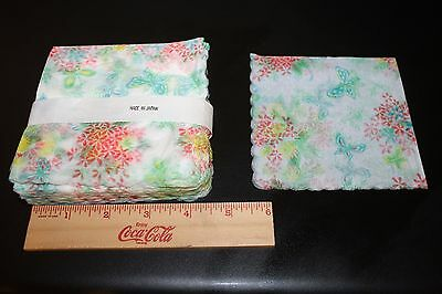 Vintage ~ 100 Rice Paper Napkins Watercolor Made in Japan Cocktail Size NEW LQQK
