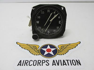 Vintage, Warbird  Aircraft, Bendix AN5730-2 Remote Compass Indicator Gauge.