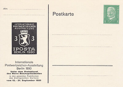 Postal Stationery/Privatganzsache PP117/C2/04: IPOSTA BERLIN 1930