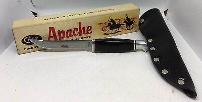 Case XX Stainless USA 1965-69 Black #300 Apache Fixed Blade Knife In Box