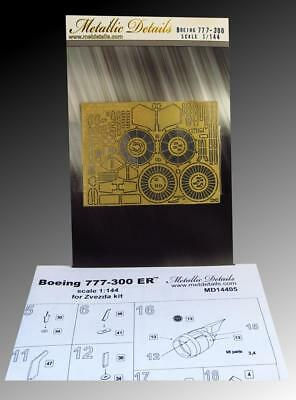Detailing set for Zvezda kit Boeing 777-300 ER 1/144 Metallic Details 14405