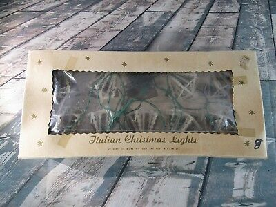 Vintage Italian Christmas Lights - White Chandeliers with Candles Multi Color