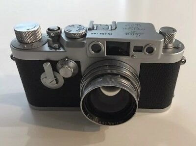 Leica iiig With Collapsible Leitz Summitar Lens Excellent Condition