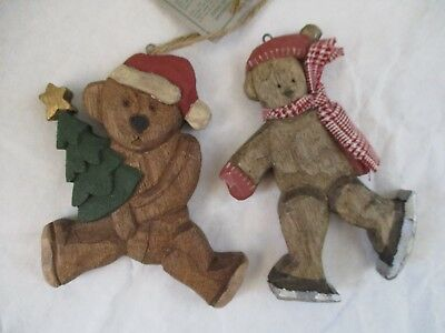 2 ~ Boyd's Carvers' Choice ~ Jill Strausbaughs' Wood Ornaments ~ Signed & Dated