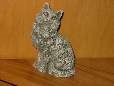 Shapes Of Clay Mount St. Helens Ash Clay Large Cat Figurine Stan Langtwait
