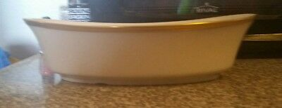 "1-Lenox DIMENSION COLLECTION ""ETERNAL"" oval serving bowl Ivory Color And Gold"