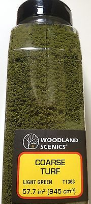 Woodland Scenics Coarse Turf Light Green # T1363 Factory Sealed