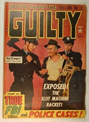 Justice Traps the Guilty Vol 3 #1 (13) (Dec 1949-Jan 1950, Prize) Used SOTI