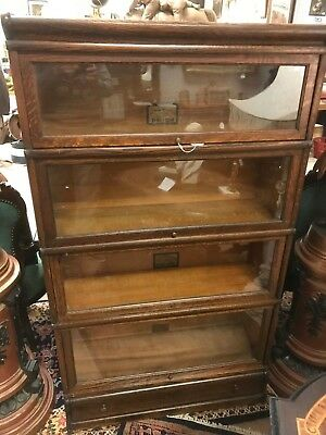 Globe Wernicke Co. Oak Stacking Barrister Bookcase