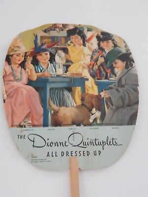 Dionne Quints All Dressed Up Hand Fan Jacksonville Ice & Cold Storage