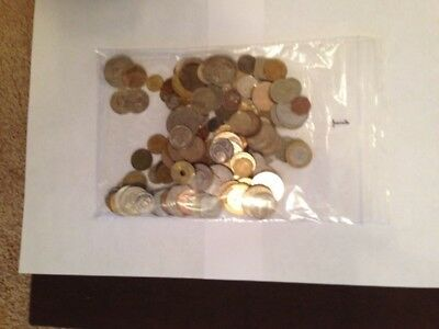 WORLD COIN LOT of 130 circulated coins from 75 DIFFERENT COUNTRIES