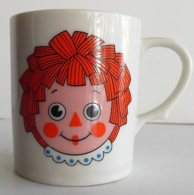 Vintage Porcelain Raggedy Ann Child Cup Japan Childs Cup Mug Uncommon Find