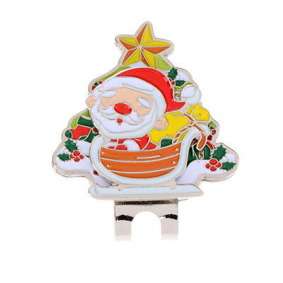 Sturdy Santa Claus Magnetic Hat Clip Golf Ball Marker Fit for Cap Visor Gift