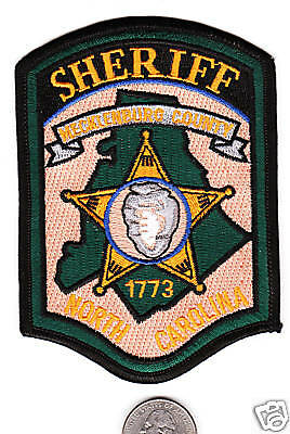 NORTH CAROLINA MECKLENBURG COUNTY SHERIFF POLICE PATCH Cloth Star Shield Badge