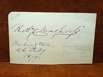 RARE ~ Autographed Page w/(2) 1840's - 1880's House of Representative Signatures