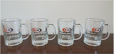 Vintage A & W Root Beer Glass Baby Mugs Oval Logo Very Nice!