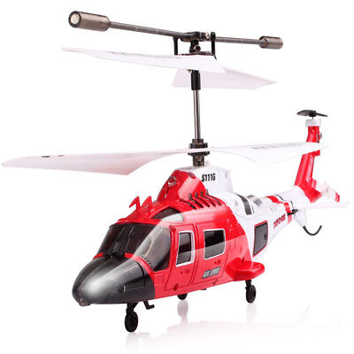 Syma S111G 3CH RC Infrared Control Simulation Attack Helicopter Gyro Kid Gift AU