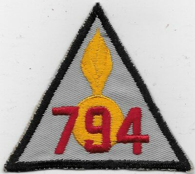 "EX/RARE ORIGINAL WWII ""794TH ORDNANCE Co."" PATCH - EMB ON TWILL"