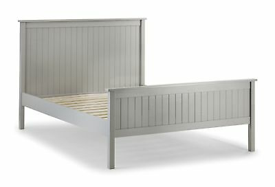 Sherwood Grey Solid Pine Wooden Bed Frame 4FT6 Double 5FT King Size