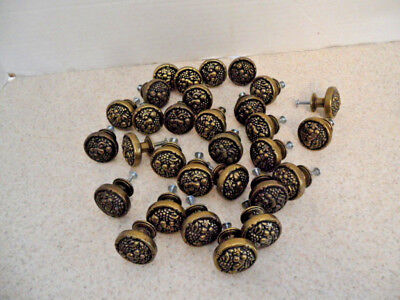 ✭ Amerock BP1335-077 Burnished Brass Fruit Drawer / Cabinet Knob Pull LOT OF 30
