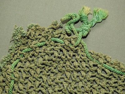 US Army WW2 ETO BRITISH MADE LIGHT GREEN M-1 HELMET NET ORIGINAL Vtg GI RARE