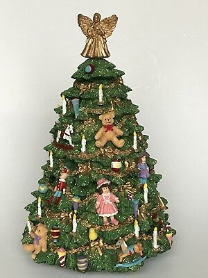 "Victorian Tree Figurine Plays ""Twelve Days of Christmas"" San Francisco Music Co"