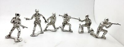 Silver Toy Soldiers 1 oz .999 Fine Silver Army Men Set of Six Pure Silver