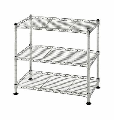 "Muscle Rack WS181018-C Steel Adjustable Wire Shelving, 3 Shelves, Chrome, 18""..."