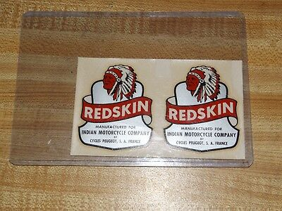 Vintage Antique Indian Redskin Motorcycle Bike Decals