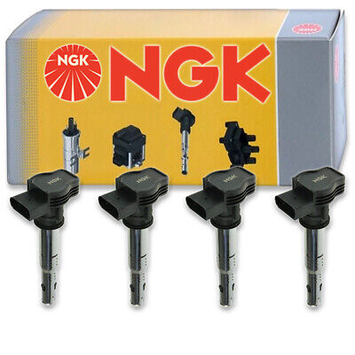 4 pcs NGK Ignition Coil for 2009-2013 Volkswagen CC 2.0L L4 - Spark Plug ms