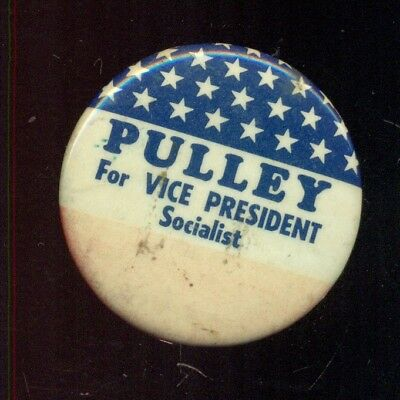 1972 Andrew Pulley for Vice President Socialist Workers Party Campaign Button