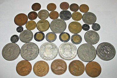 Excellent Mexico Coin Lot! 2 BIG SILVER UN PESO! Mexican Coin Collection! (nu7)