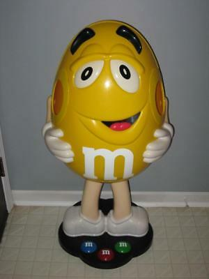 """Yellow Peanut M&M Candy Store Display 40"""" HUGE! Collectible!"""