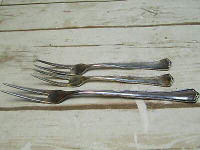 800 Silver Hartglanz Two-pronged Forks Silverware Serving Ware